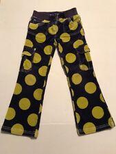 Mini Boden Girls Corduroy Polka Dot Pants Cargo Pocket purple green Size 6Y D002
