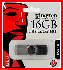 NUOVO 16GB Kingston USB Memory Stick G2 PENNA FLASH DRIVE DATATRAVELER prima del