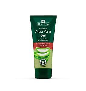 1 Pack of Aloe Pura Skin Treatment - Aloe Vera Organic Gel with Tea Tree - 200ml