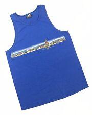 Vintage Vtg 90s Gecko Hawaii Tank Top Shirt Small S Mens Blue Surfer Hang Loose