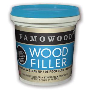 FAMOWOOD Latex Water Based Wood Filler - 40042112 Cherry/Dark Mahogany 1/4 Pint