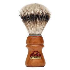 Brocha de Afeitar Semogue 2015 Pelo Tejon Silvertip Punta de Plata Dos Bandas