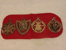 KENT SILVER & GOLD TONE BODY ARMOR MEDALS PENDANT GRIFFIN ROYAL CROWN COLLECTION