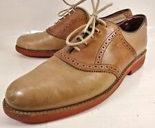 Walk Over Mens Shoes 611968 US 10 D Two Tone Brown Leather Lace Oxfords 2593