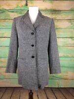 Nordstrom black & white speckled, lined women's Jacket, size 10