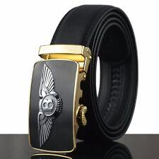 Homme Boucle Métal luxe Bentley Ceinture automatique Cuir Business officiel Belt