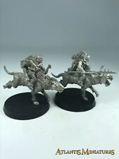 Metal Orc Warg Riders X2 - LOTR / Warhammer / Lord of the Rings C750