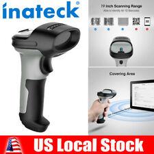 Inateck Bluetooth Barcode Scanner Wireless Laser Usb Scan Gun Label Reader