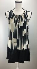 Lily White Top M Medium Sleeveless Tunic #J42