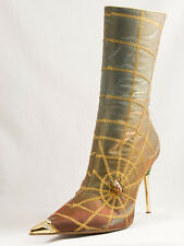 New   Hamlet Couture Multicolor Boots Size 36 US 6