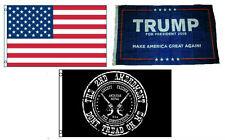 3x5 Trump #1 & USA American & 2nd Amendment Wholesale Set Flag 3'x5'