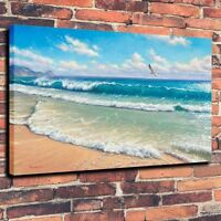 CHPT71 100% hand painted seascape bird Oil Painting wall home Decor art Canvas