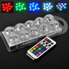10X RGB LED Poolbeleuchtung Unterwasserlichtshow Lampe Unterwasser Decor Licht