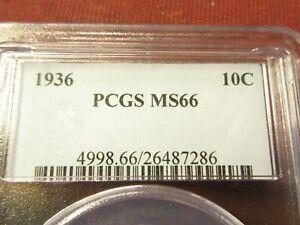 1936 10C PCGS  MS66    MERCURY DIME   #26487286  #118