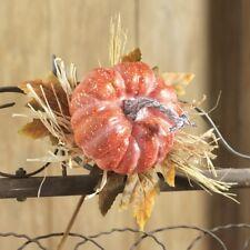 "NEW!~RAZ Imports~12"" Pumpkin Leaf Spray~Floral Pick/Branch/Stem/Swag/Tree/Wreath"