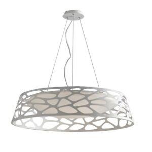 Decken Kronleuchter Led- Modern Design Lampe Hängend Weiss