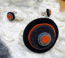 JEWELRY SET FELTED CLIPS FELTED BRACELET MADE IN EUROPE HOLIDAY GIFT WOMEN GIFT