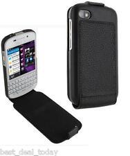 OEM Rim Blackberry Leather Flip Shell Case For Q10 BB10 BB-10 Black Verizon AT&T