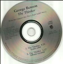 GEORGE BENSON The Thinker w/ RARE RADIO EDIT PROMO DJ CD Single 1996 USA MINT