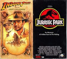 Indiana Jones and the Last Crusade (VHS) & Jurassic Park (VHS); 2VHS