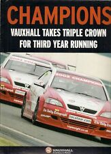 Vauxhall Astra Coupe 2001-03 BTCC Triple Champion UK Market Brochure