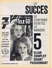 PUBLICITE ADVERTISING 114 1960 TELE 7 JOURS  jumelles du  Lido          191114