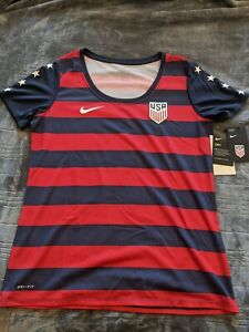 NWT USMNT USA Soccer Gold Cup 2017 Nike Womens Athletic Cut Jersey Tee Shirt