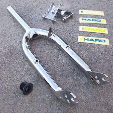 """HARO LINEAGE FORK 990 W/ FOLDING PEG FORK STANDERS CHROME 20"""" BMX BIKE FORKS"""