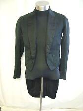 "Mens Wedding Tails jacket black, chest 34-35"", length 44"", vintage used 2392"