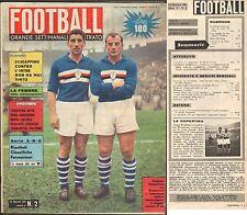 RIVISTA-CALCIO-FOOTBALL-SETTIMANALE ILLUSTRATO-12 GENNAIO 1961-SCHIAFFINO