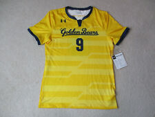 NEW Under Armour Cal Golden Bears Soccer Jersey Adult Large Yellow Blue Dri Fit