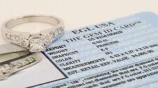 1.05 ct 18K White Gold Princess Cut Diamond Engagement Ring EGL-USA Rtl $4,055