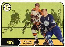 Custom made Topps  1968-69 Boston Bruins Bobby Orr hockey card white