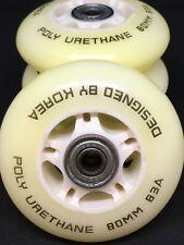 4PCS Inline Outdoor Wheels 80mm / 83A + ABEC5 Bearings Hockey Skating AU STOCK