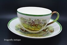 SUPERB Copeland Spode Cup & Plate Full Cry & Off To Draw J F Herring Hunt