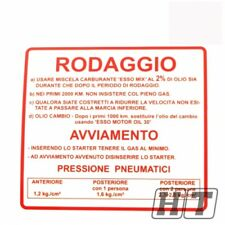 Autocollant rodaggio einfahr disposition Rouge Pour Vespa 50 90 125 Small Frame