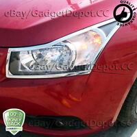 For 2009-2011 2012 2013 2014 Chevrolet Cruze Chrome Headlight Cover Trim Bezel