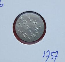 Niederlande: 2 Stuiver Silber 1757, Province Holland (Hollandia), #F 2162, VZ-XF