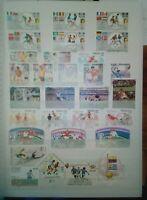Fussball Lot Briefmarken Sellos Timbres Stamps