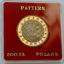 Poland, 200 Zlotych 1986, PROBA Pattern Coin SOWA OWL