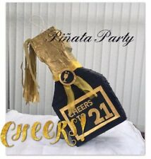 Champagne Piñata Decoration Birthday Party Games Adults 18 21 30 40 50 60 Smash