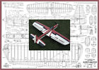 """Model Airplane Plans (UC): Super Master 55½"""" Stunt for .35-.46 Engines"""