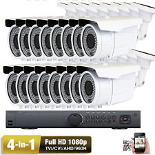 16Ch Hd-Tvi 1080P 4-in-1 Ahd 2.6Mp 960H 72Ir Led Outdoor Security Camera System