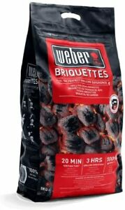 Weber Barbecue Charcoal Briquettes 8kg Perfect for Outdoor Roasting & Grilling