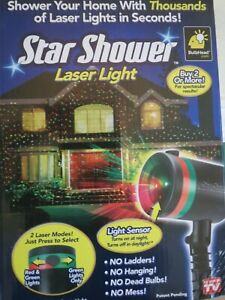 Bulb-Head Star Shower Laser Light Projector Christmas Lights Green & Green/Red