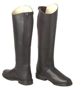 Long riding boot, slim leg, black size  3 1/2 and 4