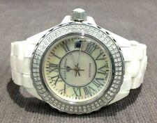 Swiss Legends Karamica Diamonds Beige Ceramic & Mother of Pearl Ladies Watch