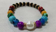 Valenines 7 Chakra Bracelet Crystal Healing Stones Beads Jewellery Reiki anxiety