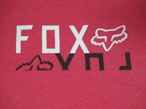 FOX MOTOCROSS RACING MIRROR LOGO REFLECTING RED MEDIUM SOFT T-SHIRT F1554
