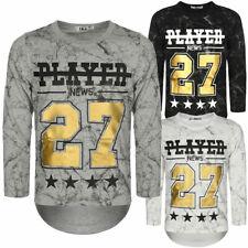 Jungen Langarmshirt Pullover Sweater Pulli Sweat T-Shirt Motiv Druck 30164